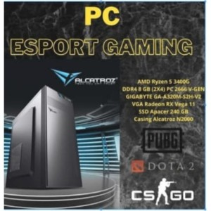 Harga komputer pc rakitan gaming game amd ryzen 5 2600 8gb ssd 256gb | HARGALOKA.COM