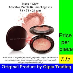 Harga blush on   pixy   make it glow adorable marble 02 tempting   HARGALOKA.COM