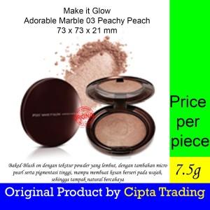 Harga blush on   pixy   make it glow adorable marble 03 peachy   HARGALOKA.COM