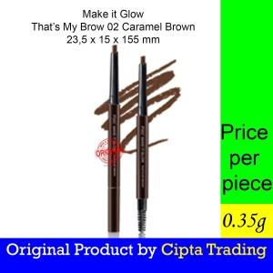 Harga eyeliner   pixy   make it glow that s my brow 02 caramel   HARGALOKA.COM