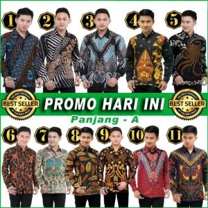 Harga promo hari ini kemeja batik pria termurah katun hq m l xl xxl   pendek a   HARGALOKA.COM