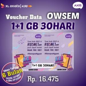 Harga pv voucher axis aigo ows 4gb 30 hari vcr | HARGALOKA.COM
