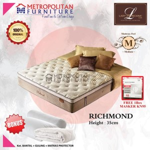 Harga kasur springbed lady americana richmond 120 x 200 spring bed | HARGALOKA.COM