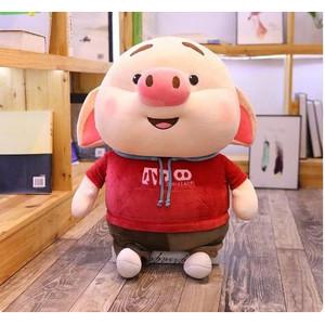 Harga boneka babi pig piggy jumbo besar 50cm impor pakai costum warna warni   40cm | HARGALOKA.COM