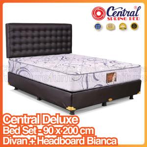 Harga spring bed central deluxe bed set headboard bianca   90 x 200 | HARGALOKA.COM