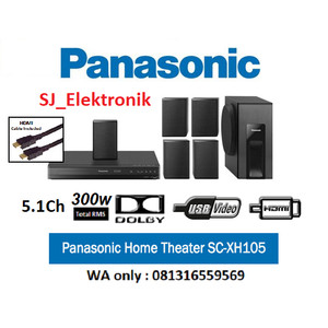 Harga home theater panasonic sc xh105 sound system dolby 5 1ch 300w | HARGALOKA.COM