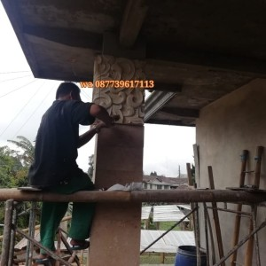 Harga ukiran batu paras relief batu alam ornamen loster hiasan | HARGALOKA.COM