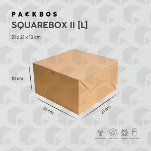 Harga square box ii l   kotak dus boks kue donat | HARGALOKA.COM