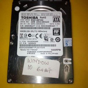 Harga hardisk 500 gb laptop slim toshiba sudah terinstal | HARGALOKA.COM