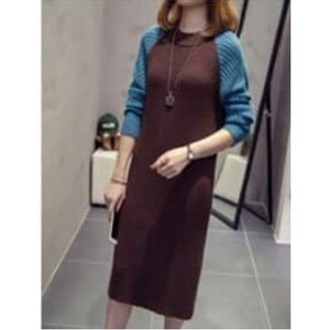 Harga dress wanita rajut halus azema comby dress   | HARGALOKA.COM