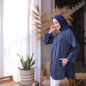 Harga ara tunik   atasan baju muslim lengan panjang wanita   | HARGALOKA.COM