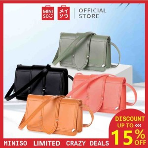 Harga miniso tas bahu selempang crossbody square bag single shoulder wanita   | HARGALOKA.COM