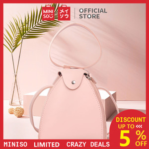 Harga miniso tas selempang wanita handbag rantai sling bag syal sutra   merah | HARGALOKA.COM