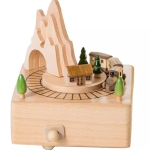 Harga music box wooden moving train 100 real | HARGALOKA.COM