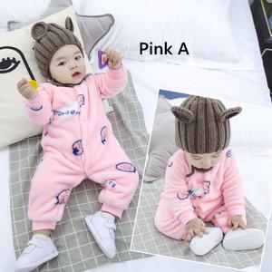 Harga jumper bayi bulu jumpsuit kartun lucu bayi jumpsuit 0 2 bulan v02   pink a 90 | HARGALOKA.COM