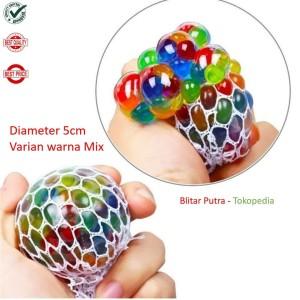 Harga squishy ball anti stress grape type mix colour diameter   HARGALOKA.COM
