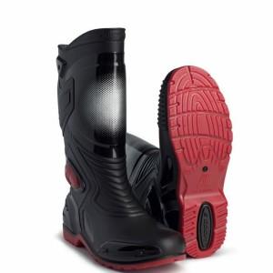 Katalog Sepatu Allbike Ap Boots Sepatu Karet Anti Air Hitam Merah Sepeda Motor Katalog.or.id