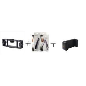 Harga paket tripod holder 3 posisi holder handphone | HARGALOKA.COM