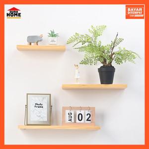 Harga rak dinding kayu solid tempat partisi ruangan rak buku hiasan dinding   | HARGALOKA.COM