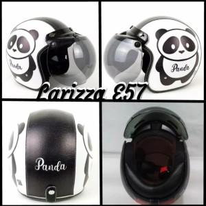 Harga helm bogo retro dewasa motif panda hitam putih   HARGALOKA.COM
