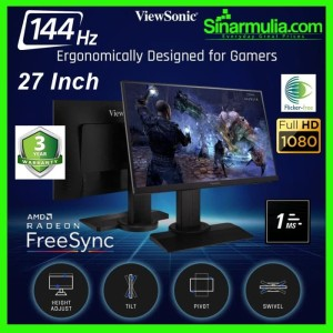 Harga monitor gaming 27 34 viewsonic xg2705 144hz 1ms ips frameless full | HARGALOKA.COM