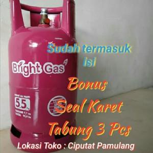 Harga tabung gas bright gas 5 5 kg isi   HARGALOKA.COM