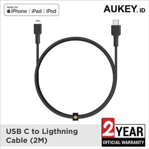 Harga aukey cable usb c to lightning 2m braided nylon mfi certified   | HARGALOKA.COM