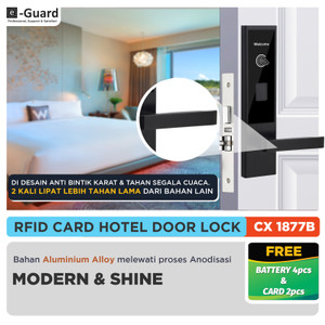 Harga cx77b e guard kunci kamar hotel kunci pintu digital door lock   | HARGALOKA.COM