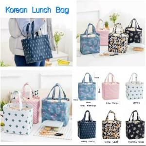 Harga new lunch bag cooler bag motif  tas bekal makanan panas   HARGALOKA.COM