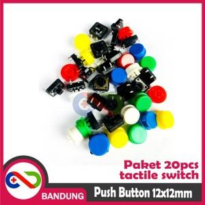 Katalog Tactile Switch Push Button 12x12x7 3mm Free Cap Katalog.or.id