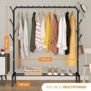 Harga angola gantung baju d27 rak baju stand hanger jemuran baju rak gantung   | HARGALOKA.COM