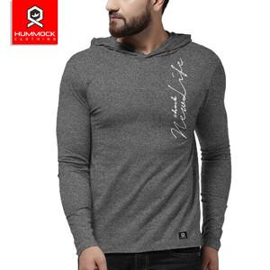 Harga kaos hoodie pria baju kupluk casual pria   h12a tc 3016 m   siro hitam | HARGALOKA.COM