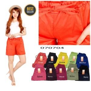 Harga celana pendek wanita model pinggang karet   | HARGALOKA.COM