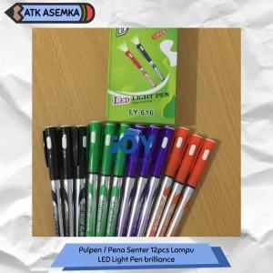 Harga pulpen pena senter 12pcs lampu promosi led light pen | HARGALOKA.COM