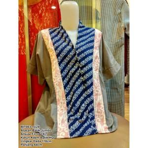 Harga atasan baju batik jumbo wanita xxl xxxl blouse batik kerja cewek katun   motif | HARGALOKA.COM