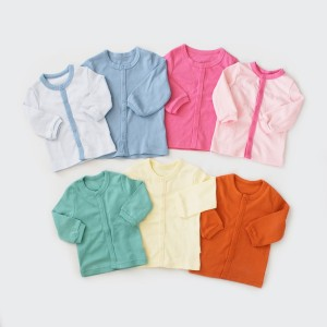 Harga i am cotton baju bayi panjang kancing depan   baby blue | HARGALOKA.COM