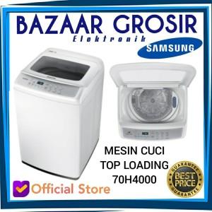 Harga mesin cuci samsung 1 tabung top loading wa70h4000 7kg promo murah   HARGALOKA.COM