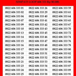 Harga nomor cantik simpati loop telkomsel 4g kartu perdana aaax murah | HARGALOKA.COM