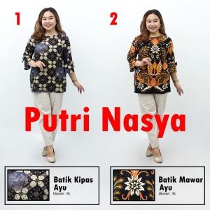 Harga blouse batik atasan wanita size lengkap jumbo batik seragam modelbatik   s no | HARGALOKA.COM