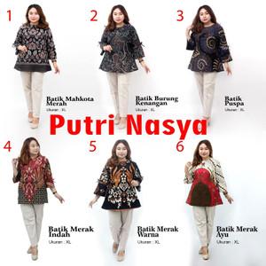 Harga atasan batik blouse wanita size lengkap s m l xl xxl 3l 4l 5l seragam   s no | HARGALOKA.COM