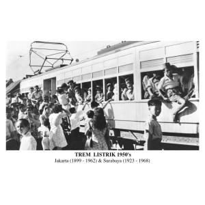 Harga foto tua kuno antik jadul tempo dulu trem listrik jakarta   HARGALOKA.COM