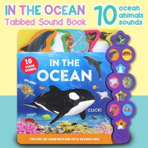 Harga in the ocean tabbed sound board book with 10 animal sounds amp explore | HARGALOKA.COM