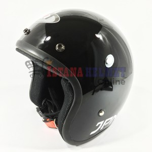 Harga helm jpn retro arc black paket kaca injak datar nc | HARGALOKA.COM