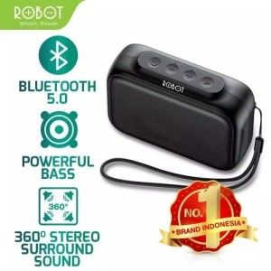 Harga speaker bluetooth robot rb100 rich bass and easily portable | HARGALOKA.COM