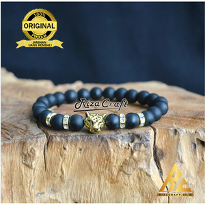 Harga gelang batu hitam black onyx asli alam akik kalimantan pria   HARGALOKA.COM