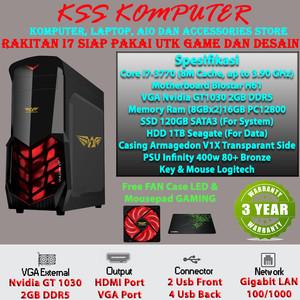 Harga baru komputer pc rakitan i7 untuk desain maupun game siap | HARGALOKA.COM