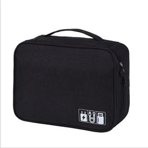 Harga travel pouch organizer cable gadget bag tas kabel charger usb     HARGALOKA.COM