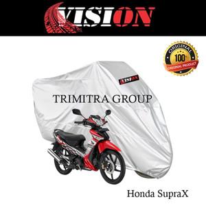 Harga sarung motor matic cover penutup tutup motor supra x silver vision   | HARGALOKA.COM