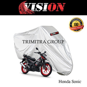 Harga sarung motor matic cover penutup tutup motor sonic silver vision   | HARGALOKA.COM