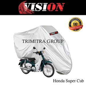 Harga sarung motor matic cover penutup tutup motor super cub silver vision   | HARGALOKA.COM